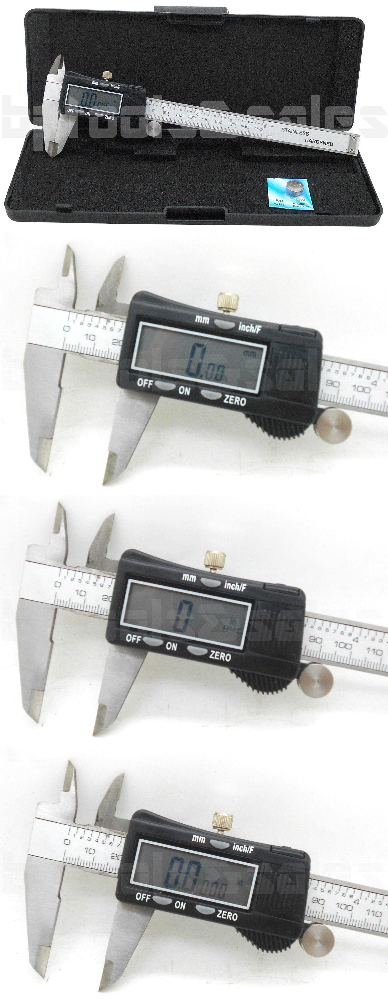 "Big Horn 19201 Professional Dial Caliper Vernier 6/""Measuring Range w//plastic box"