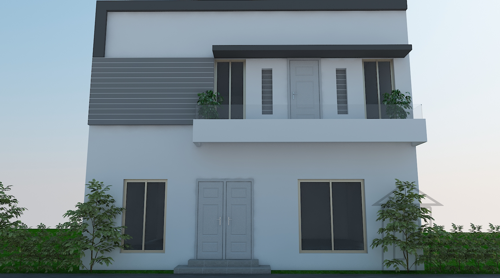30 Feet Wide Front Elevation : Marla house front elevation design has ft