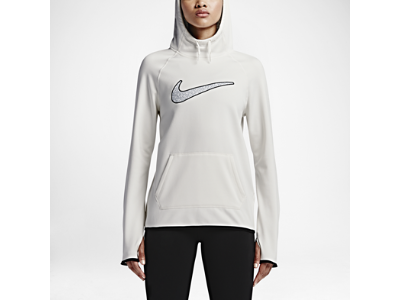 Nike All Time Graphic 3 Women's Training Hoodie, ivory/black