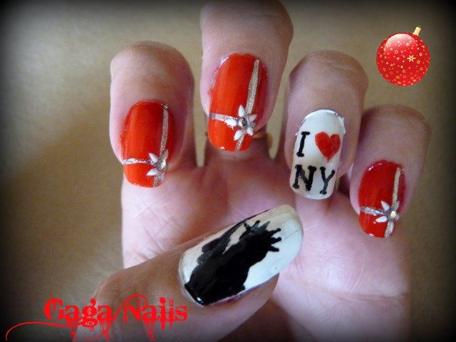 New+York+Nail+Designs | Christmas in New York Nail Art | Nails ...