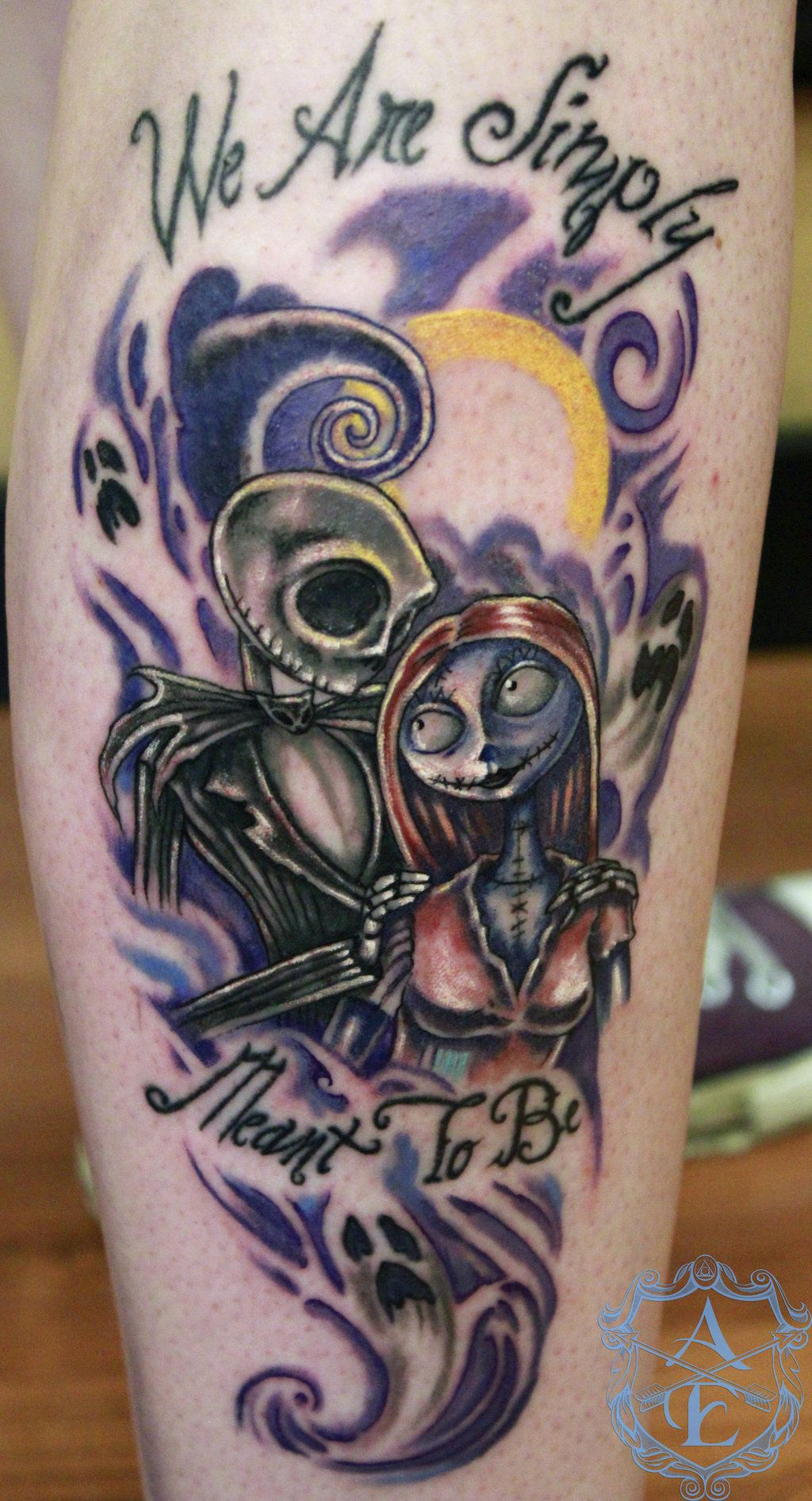 Jack and Sally NBC Tattoo done by Sean Ambrose by