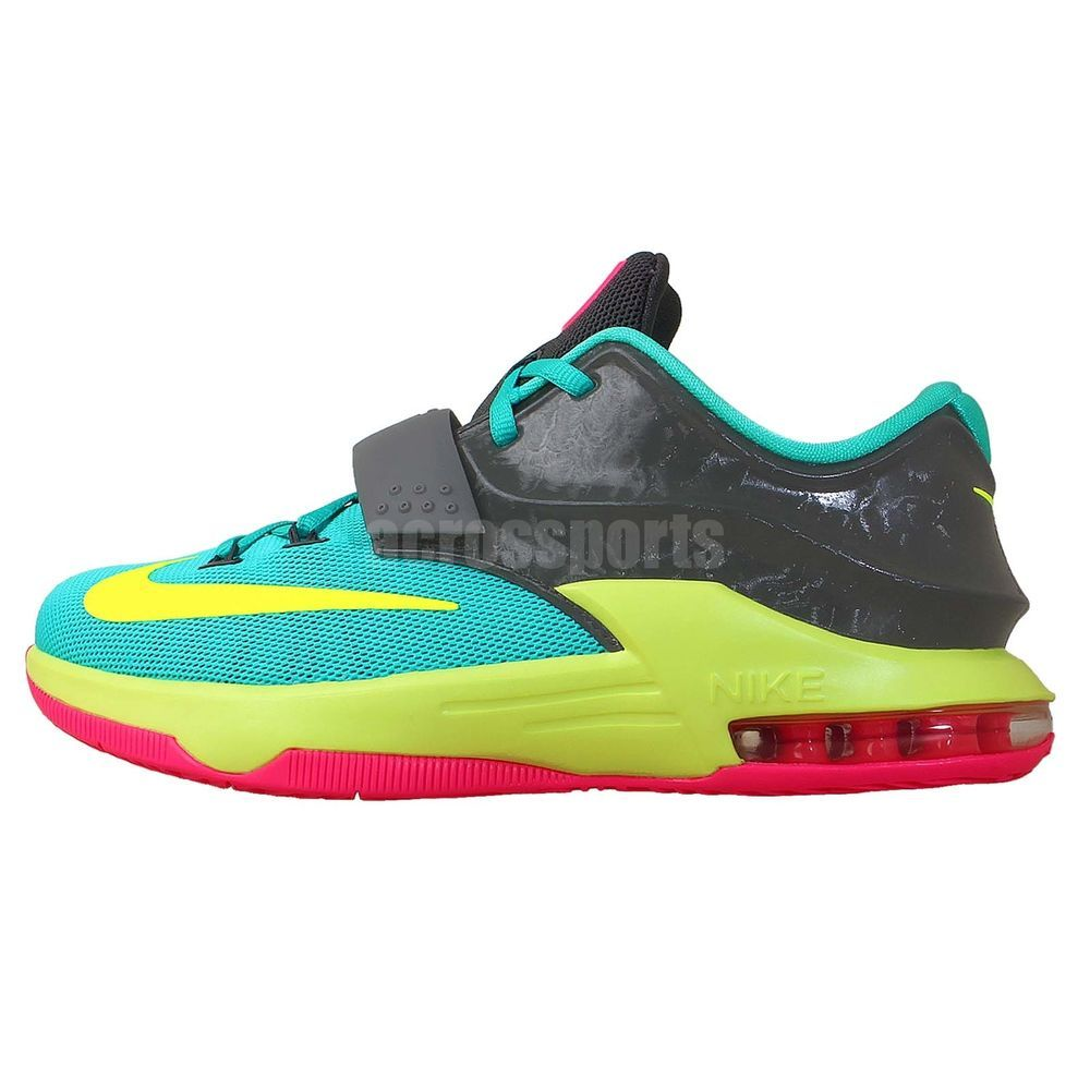 5a75c813e06b Nike KD VII GS 7 Carnival Grey Green Pink Kevin Durant Air Basketball Shoes  in Clothing