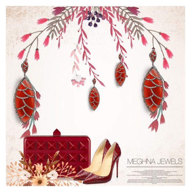 """MEGHNA JEWELS"" by defivirda ❤ liked on Polyvore featuring Bora Bora, Valentino and Christian Louboutin"