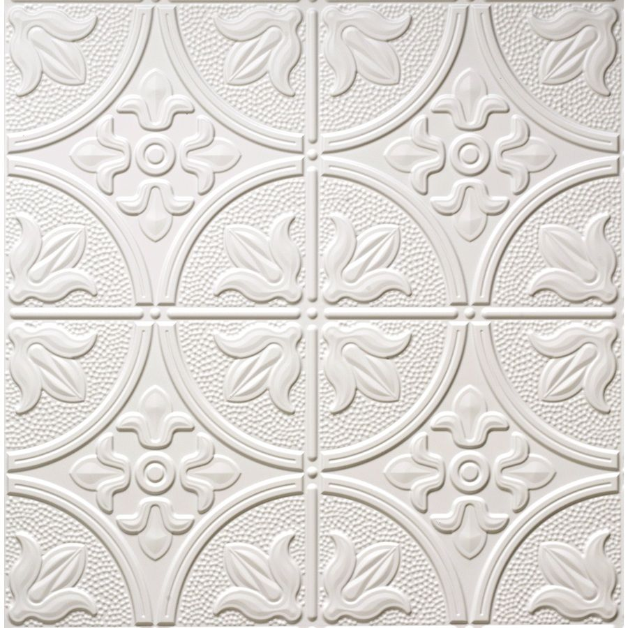 Dimensions matte white faux tin 1516 in drop acoustic ceiling dimensions matte white faux tin 1516 in drop acoustic ceiling tiles common dailygadgetfo Image collections
