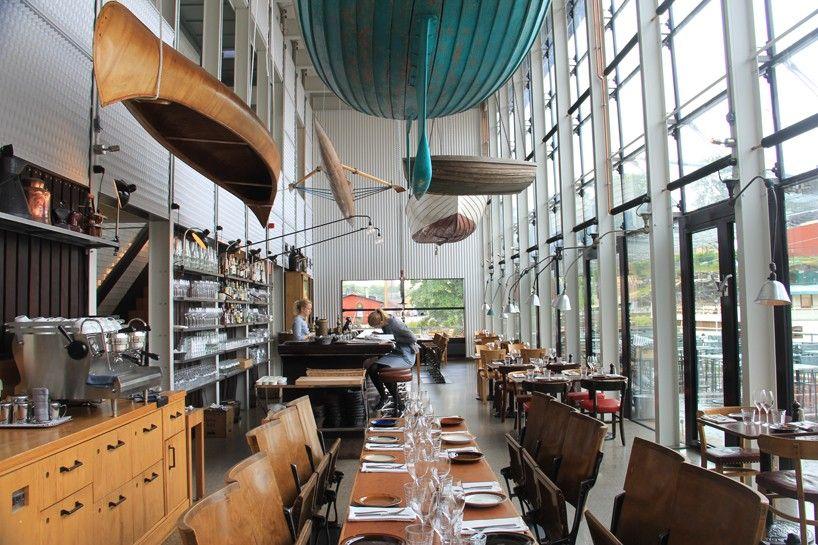 mats fahlander agneta pettersson restore industrial essence in stockholms oaxen resturant designboom restaurant interiorsrestaurant
