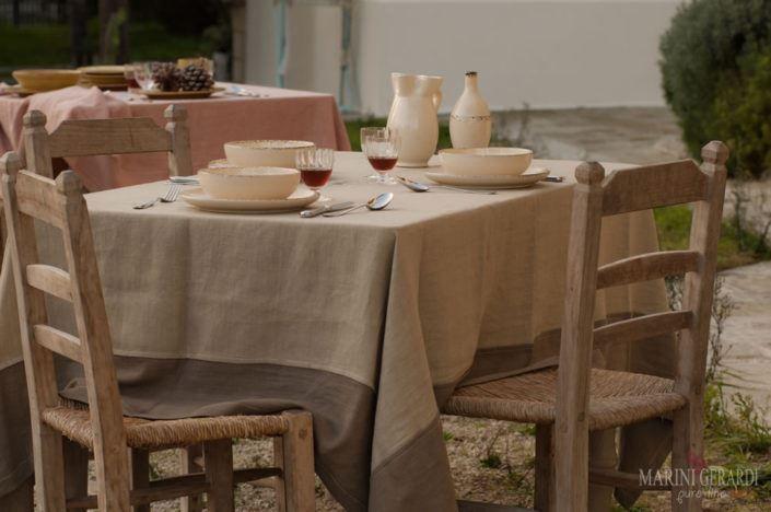 Tovaglie lino da tavola Perugia Tovaglietta Americana ...
