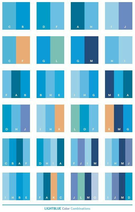 Farbenspiel, Farbkombinationen, Farbpaletten, Deko Ideen, Rezepte, Schule,  Stricken, Blaue Farbkombinationen, Blaue Farbschemata