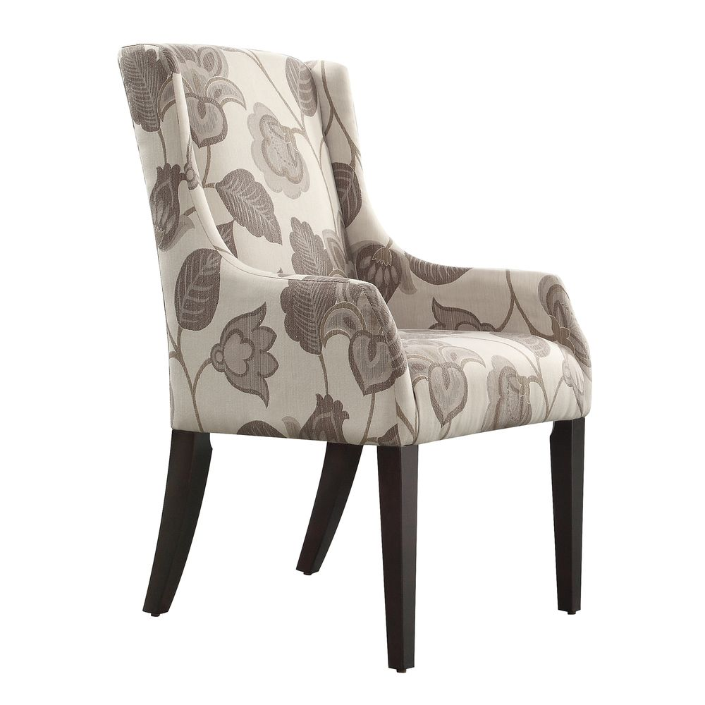 Kiefer Floral Poppy Print Sloped Arm Hostess Chair