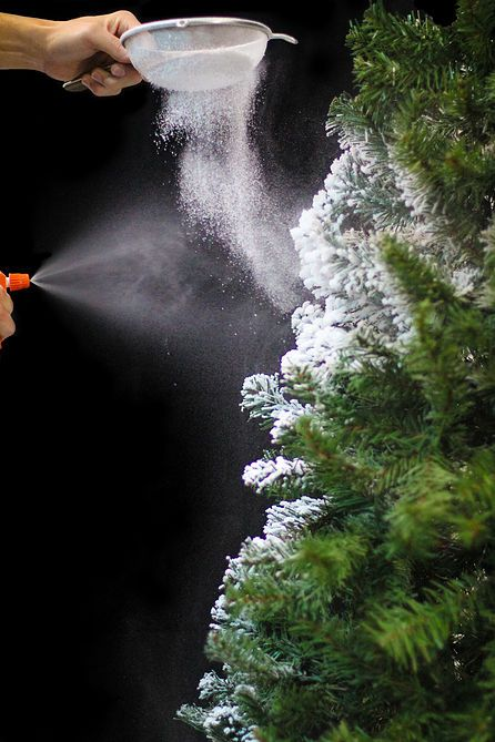 learn how to easily flock your own christmas tree using sno flock this project - Snow Christmas Tree