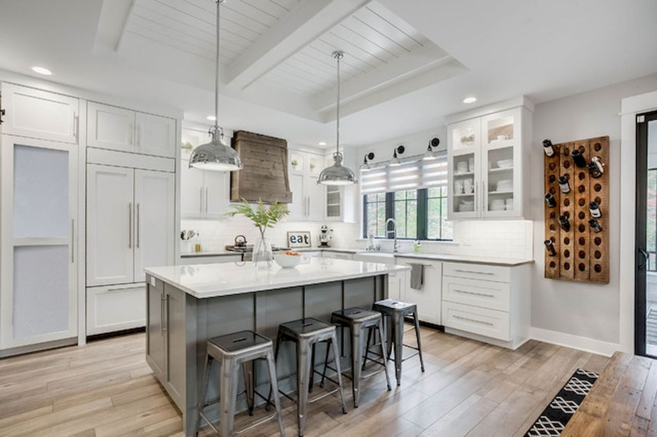 50 rustic modern farmhouse kitchen decor ideas and remodel https clairinedecor info 50 rustic on kitchen island ideas modern farmhouse id=98784
