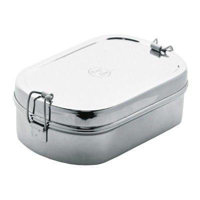 Stainless steel jumbo oval lunchbox 23 x 14.5 x 7.5cm ...