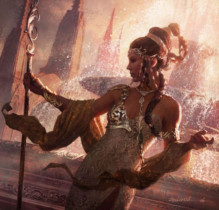 Empress Vaness inspiration   (Oriss, Samite Guardian by Michael Komarck)