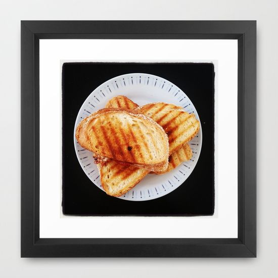 Yummy toasts for breakfast Framed Art Print