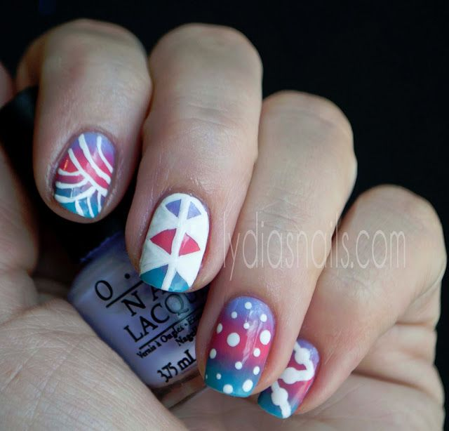 Creative Free Hand Manicure Using Nail Art Brushes 10 Little