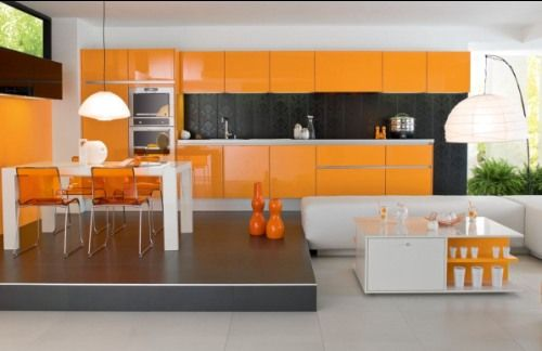 Design Shuffle Talks About Color In The Kitchen Orange
