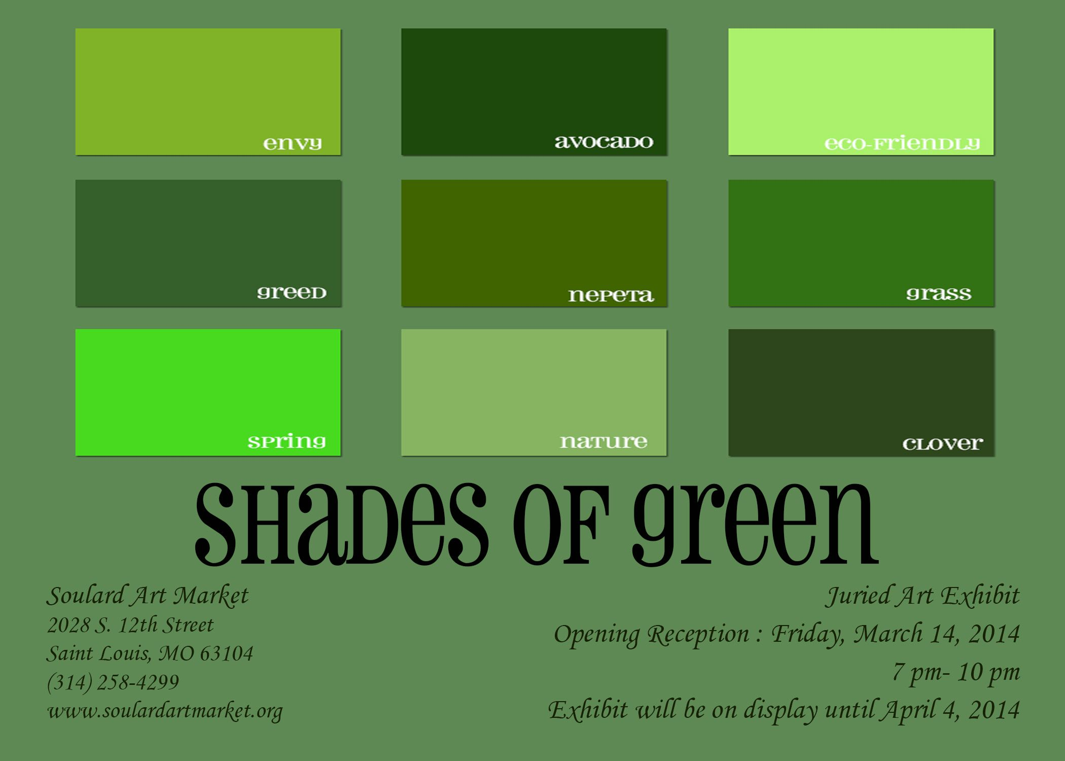 Shades Of Green Packaging In 2019 Green Paint Colors Different