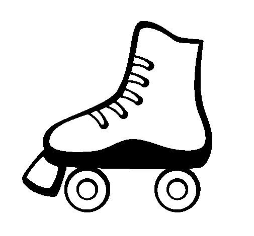 Summer Coloring Book Pages Roller Skates 05 Coloring 12351 In