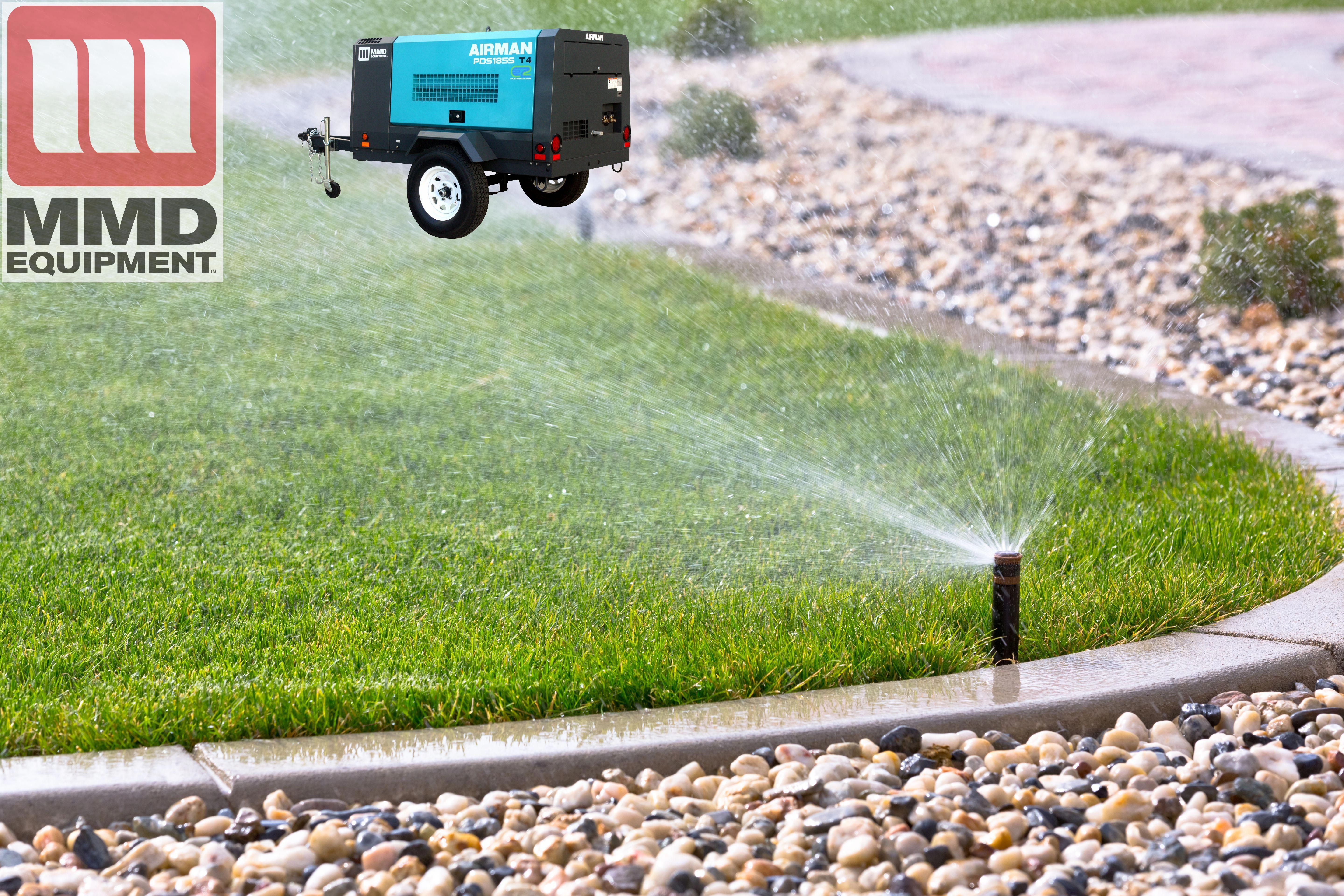 There's still time for sprinkler blowouts w/an Airman