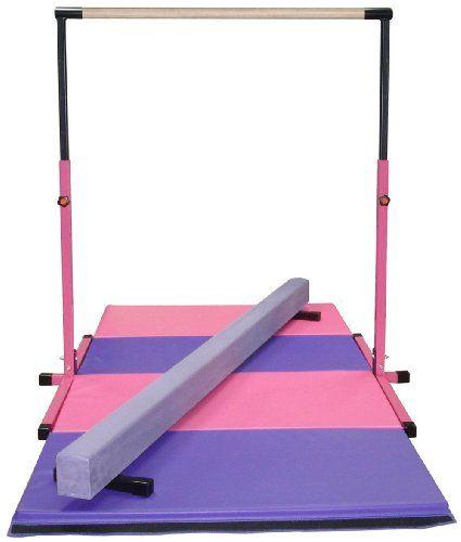 70205b5176e9 Amazon.com: Little Gym - Adjustable Horizontal Bar - Purple Low Balance  Beam - Pink/Purple Gymnastics Folding Mat: Sports & Outdoors
