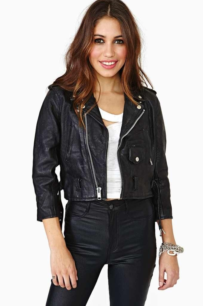 Look Out Leather Moto Jacket