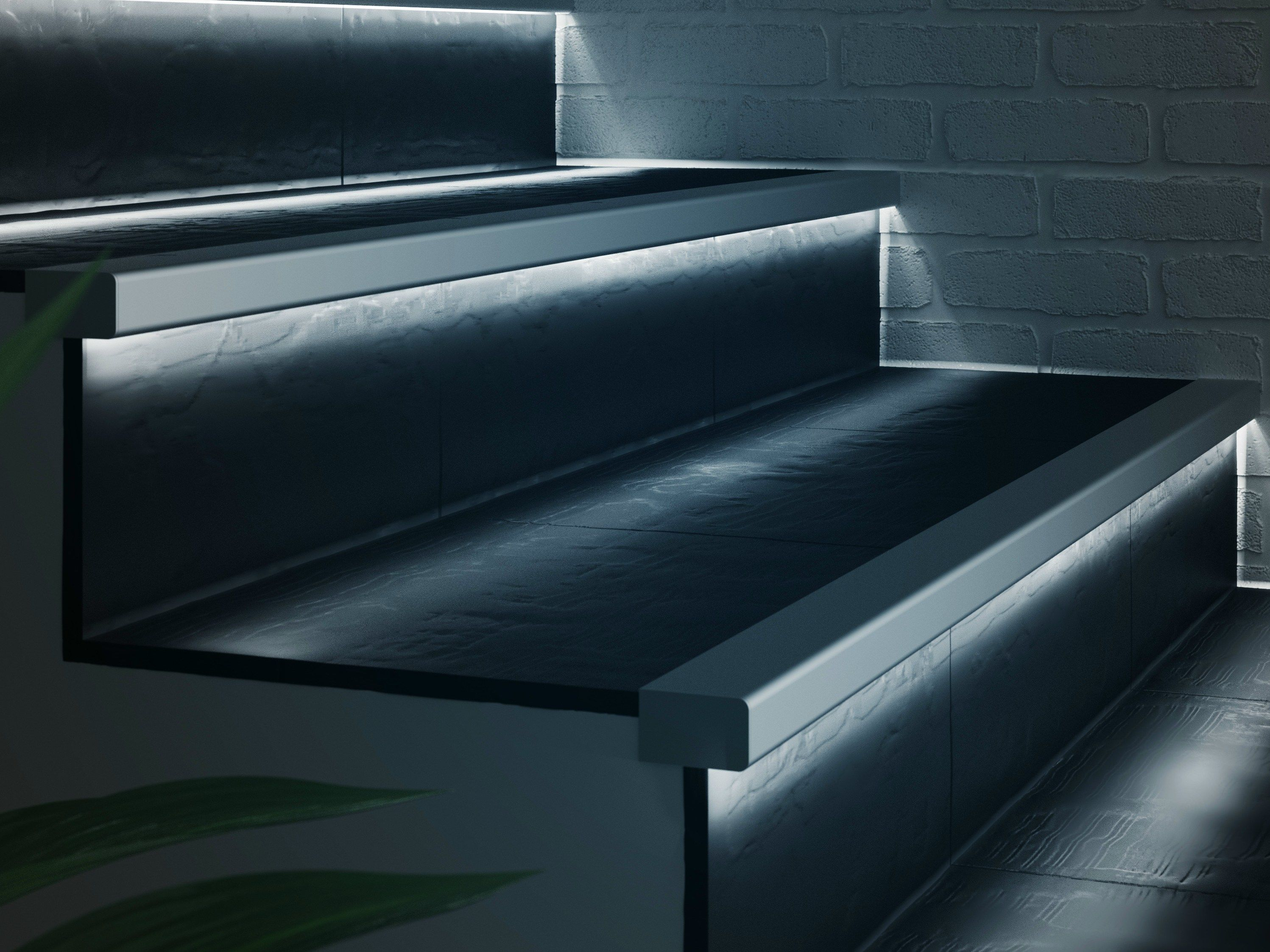 Perfiles esquineros de aluminio con led prolight prostep g 8 led colecci n prolight by profilpas - Escaleras con led ...