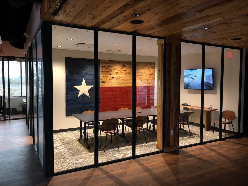 Cowork Space Houston Tx Ranch Office In 2020 Collaboration Space Coworking Flexible Work Space