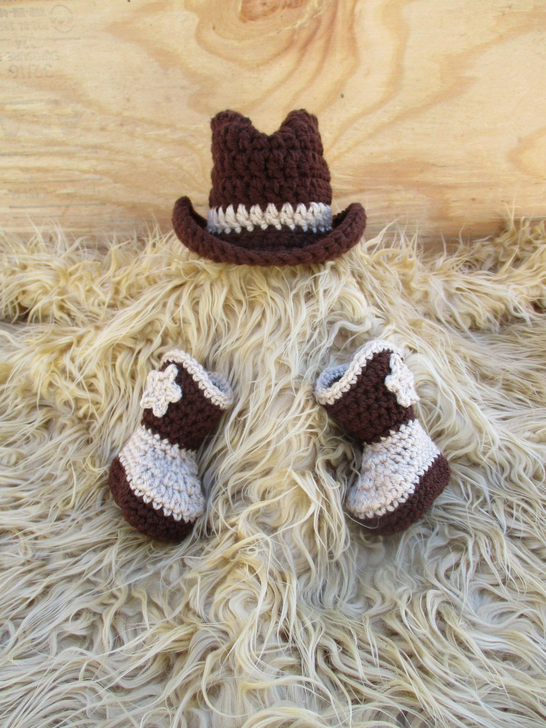 86e9abc0 Newborn Cowboy Outfit Cowboy Hat and Boots Set Knit Cowboy Hat Crochet Cowboy  Hat and Boots Baby Cowboy Outfit Photo Prop Cowboy Photo Prop by Etvy on  Etsy