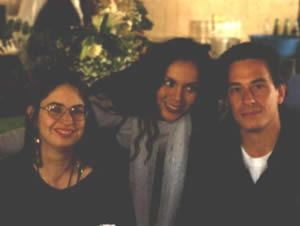 Rita and two writters: Adriana Díaz Enciso and Jordi Soler