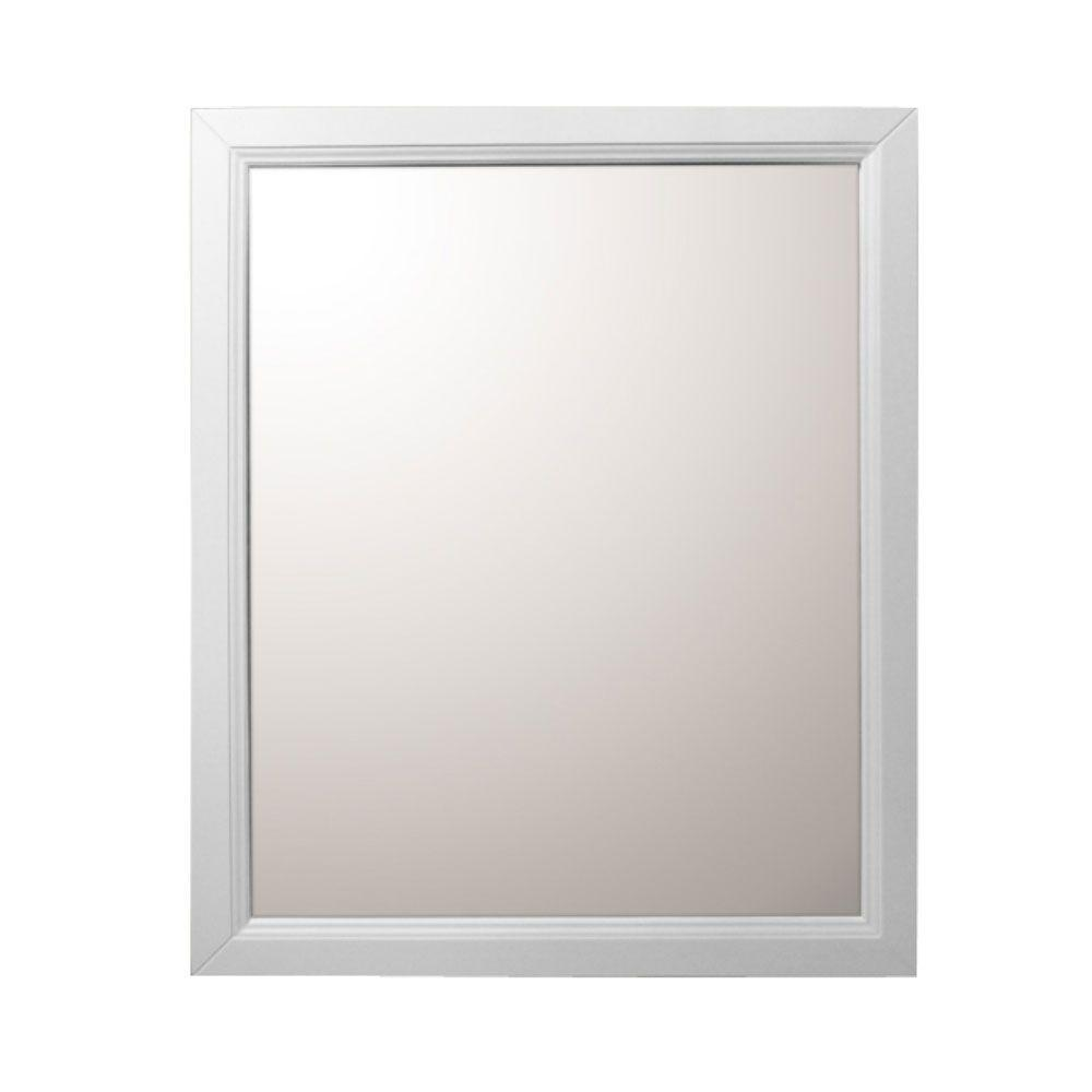 Bellaterra Home Huron 30 In W X 36 In H Framed Rectangular Bathroom Vanity Mirror In White 7610 M Wh The Home Depot Frames On Wall Framed Mirror Wall Bathroom Vanity Mirror 30 x 36 mirrors