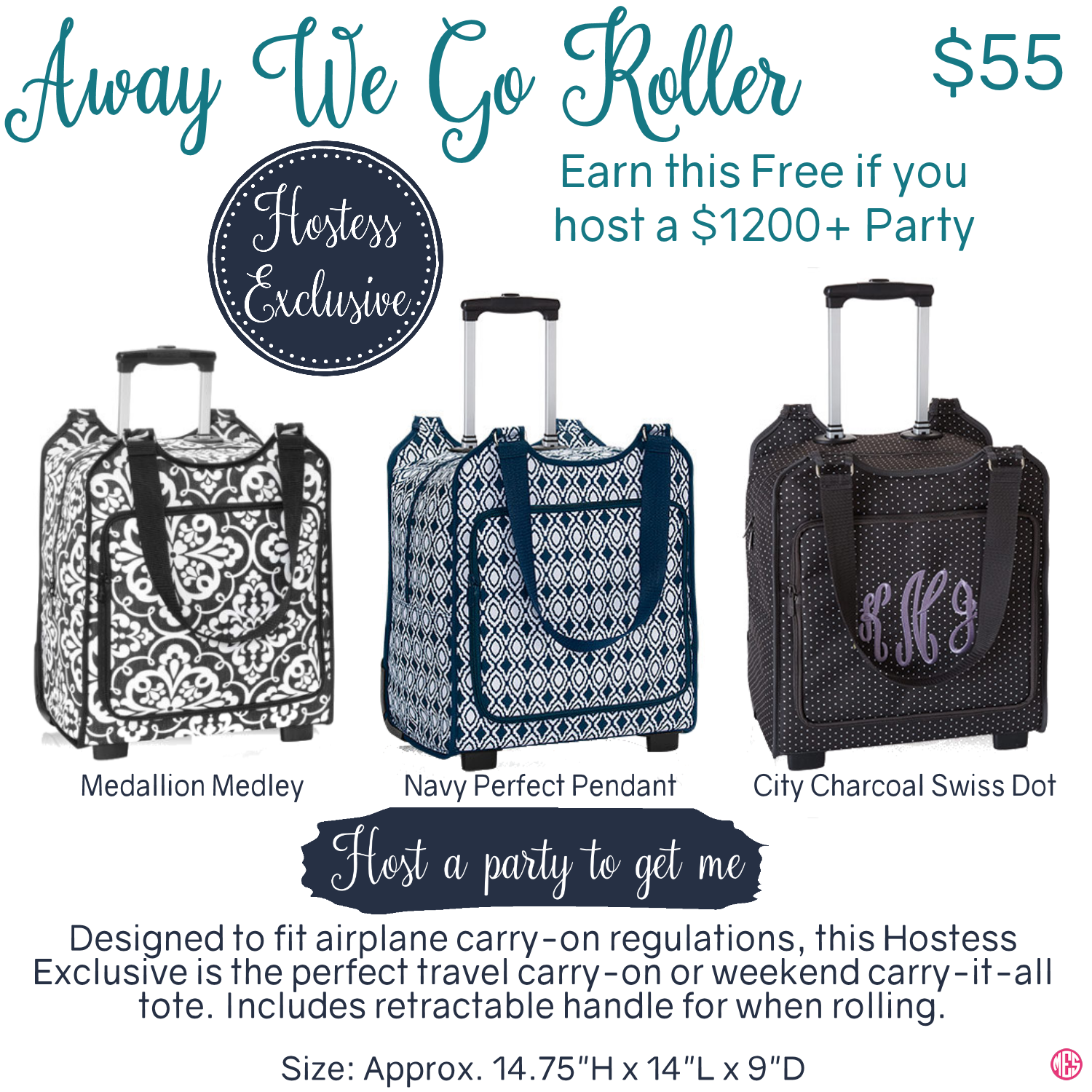 43d5b4fedc77 Thirty-One Hostess Exclusive Away We Go Roller | Thirty-one | Thirty ...