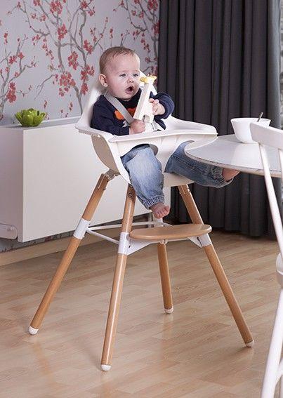 Childwood Evolu 2 High Chair Natural White Highchairs Seats