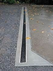 If You Re Having Any Issues With Standing Water On Your Property Maybe A Trench Drain Can Help Resolve Them For Backyard Drainage Drainage Drainage Solutions