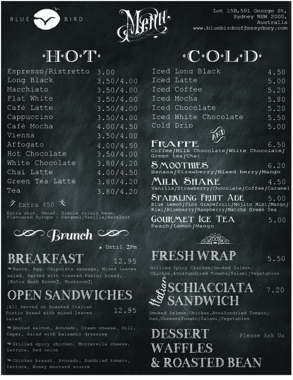 Image Result For Coffee Shop Food Menu Ideas