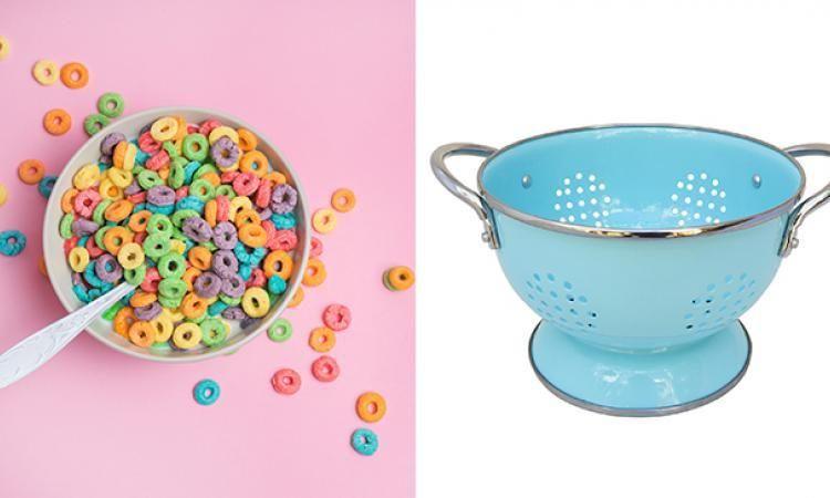 Êtes-vous capable de trouver le lien entre un bol de céréales et une passoire?