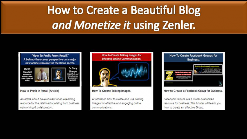 How To Create and Blogs with Zenler. Online