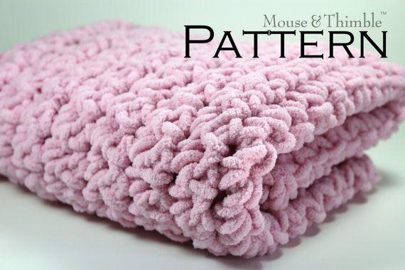 Chunky Fleece Baby Blanket W Fringe Option By Mouseandthimble
