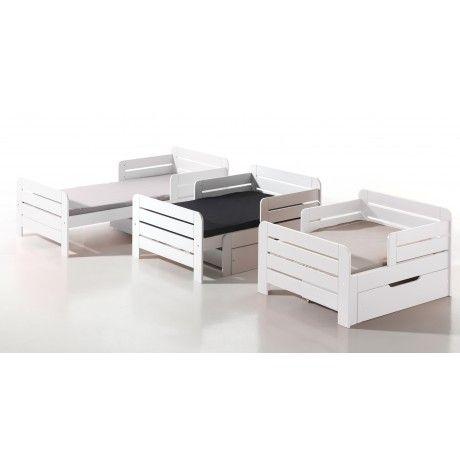 LIT EVOLUTIF 90x140170200 LEA BLANC  Chambre adle  Outdoor furniture sets Kids furniture
