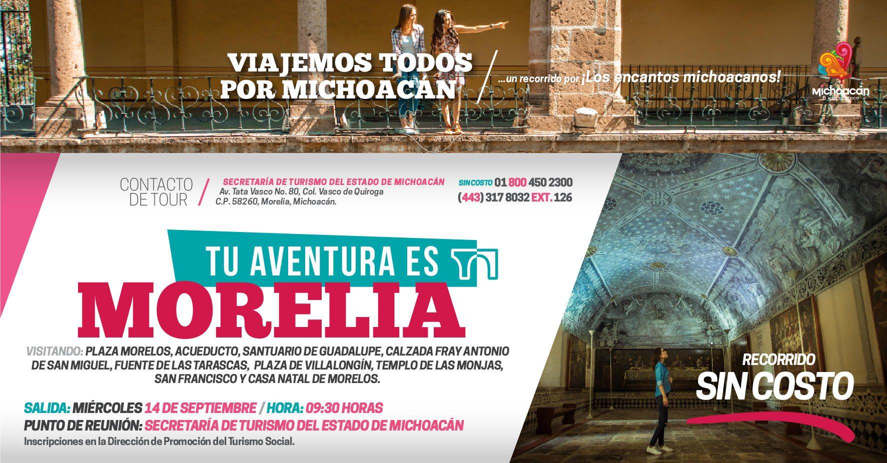 """Turismo Michoacán on Twitter: """"Este 14 de septiembre no te pierdas el recorrido por la capital michoacana. ¡Viajemos todos por Michoacán! 😍🏄🏽🎭 https://t.co/OFC9Rc9wn9"""""""