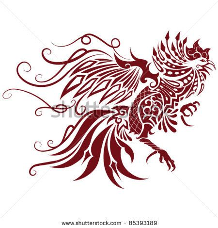 Awesome Red Tribal Rooster Tattoo Design Jpg 450 470 Rooster Tattoo Rooster Red Tribal