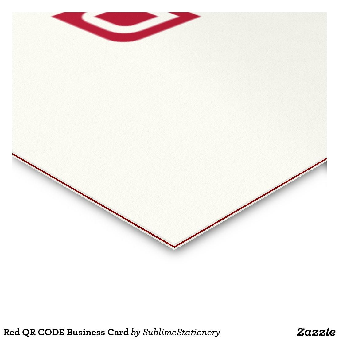 Red QR CODE Business Card | Razzle Dazzle Zazzle | Pinterest | Qr codes