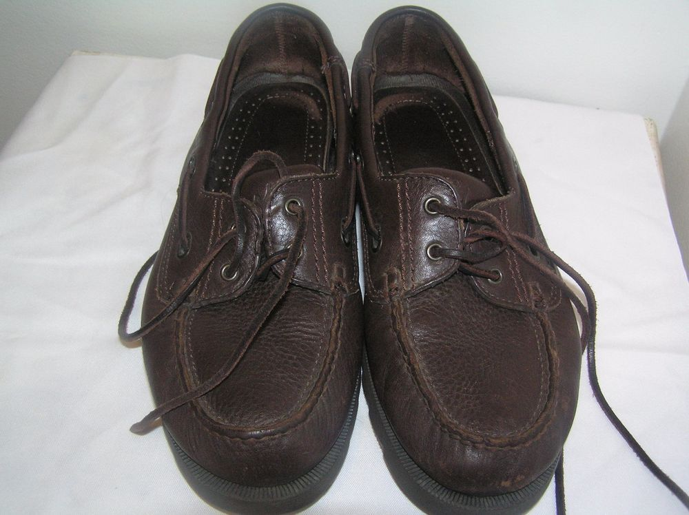 CLARKS Active Air Men's Leather Boat Shoes Size 9 1/2 Brown