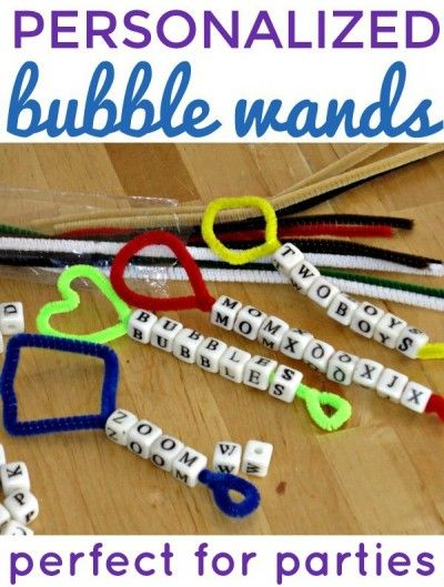 How To Make Personalized Beaded Bubble Wands For Summer Bubble