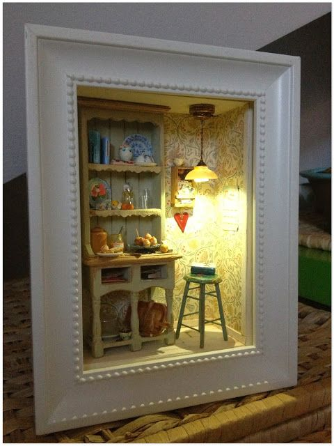 2smartminiatures: Dreaming Of Sweden   A Miniature Dollhouse Room Box