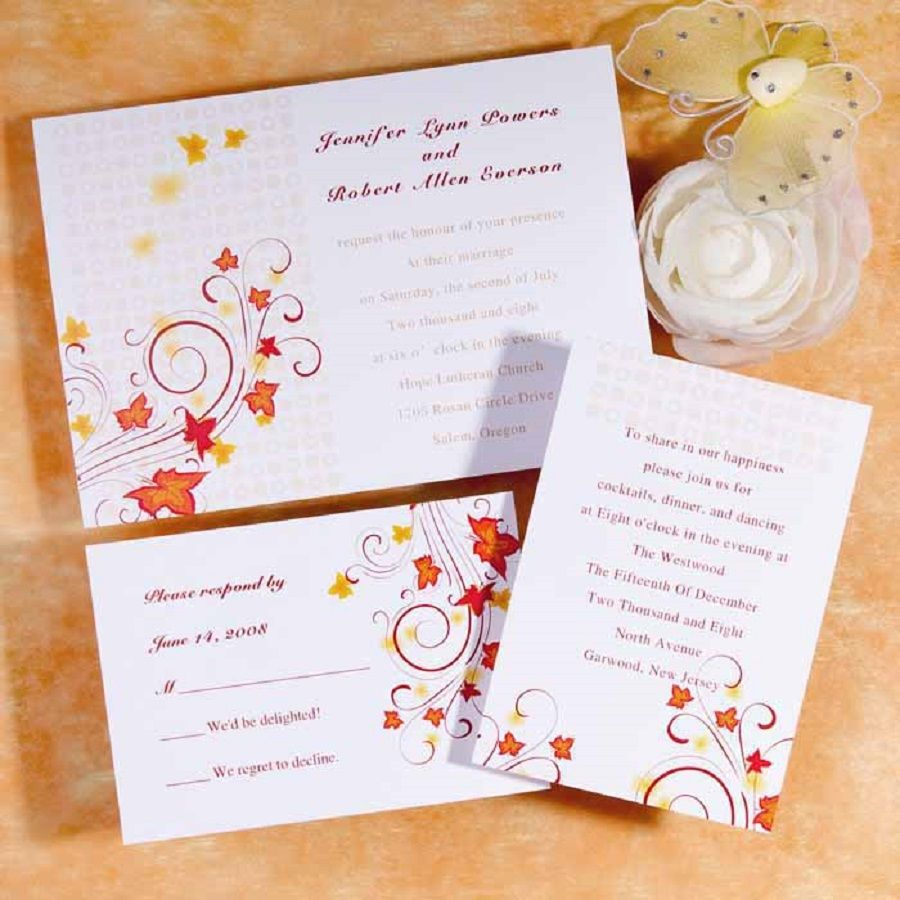 wedding #invitations #autumn wedding ideas | Autumn Wedding ideas ...