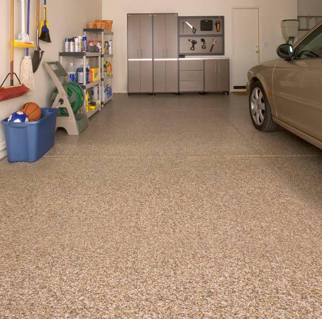 Monochromatic Brown For Garage Floor Garage Floor Epoxy Garage Floor Coatings Garage Flooring Options