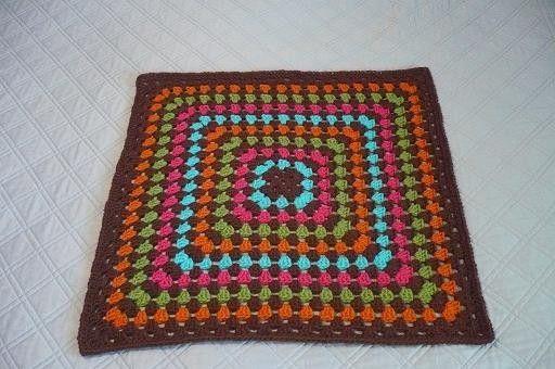 Chocolate y M & M manta | Croché | Pinterest