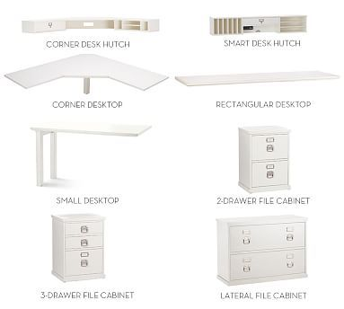 Build Your Own Bedford Modular Desk Home Office Storage