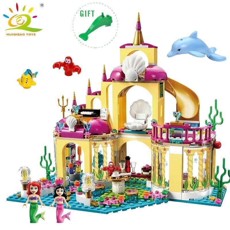 The Little Mermaid Ariel/'s Undersea Palace Model Building Blocks Assemble Toy