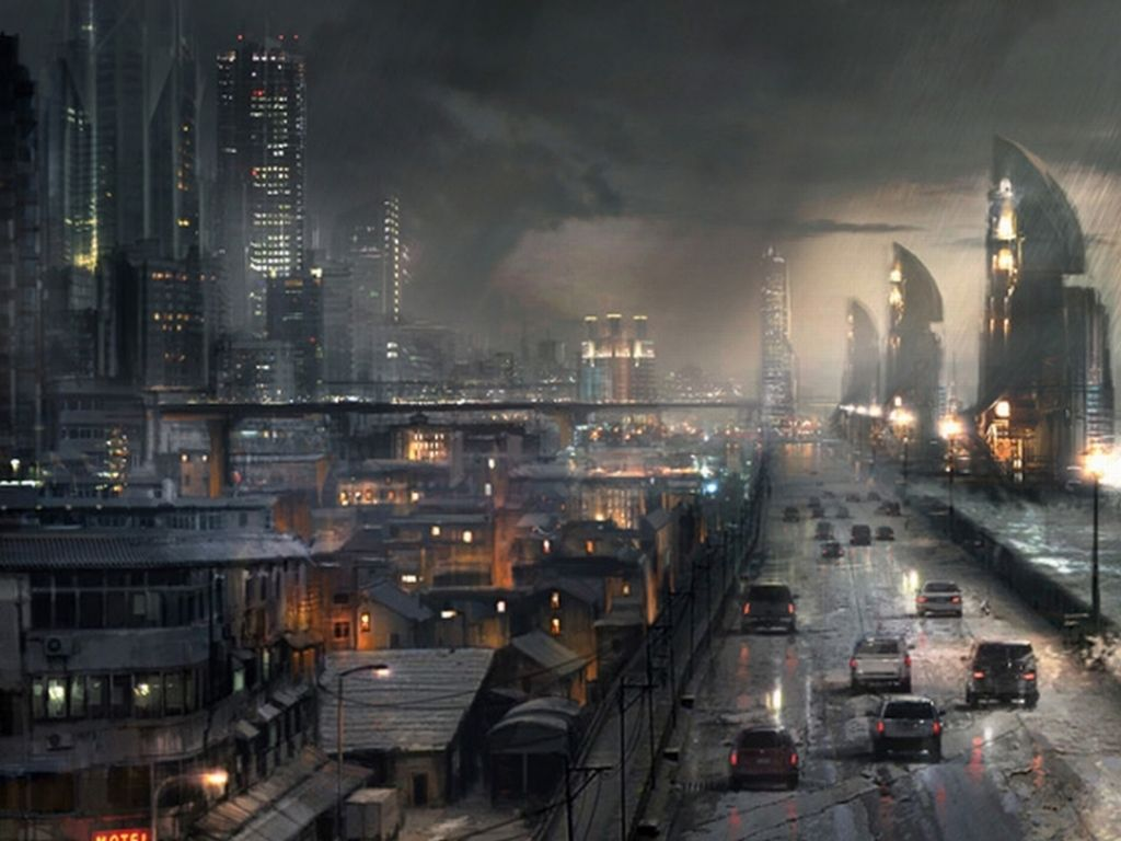 Download 1920x1080 Sci Fi City Wallpaper Background Id 145403 Cyberpunk City City Wallpaper Future City