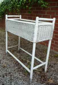 Antique White Wicker Fernery Stand Got One At A Silent